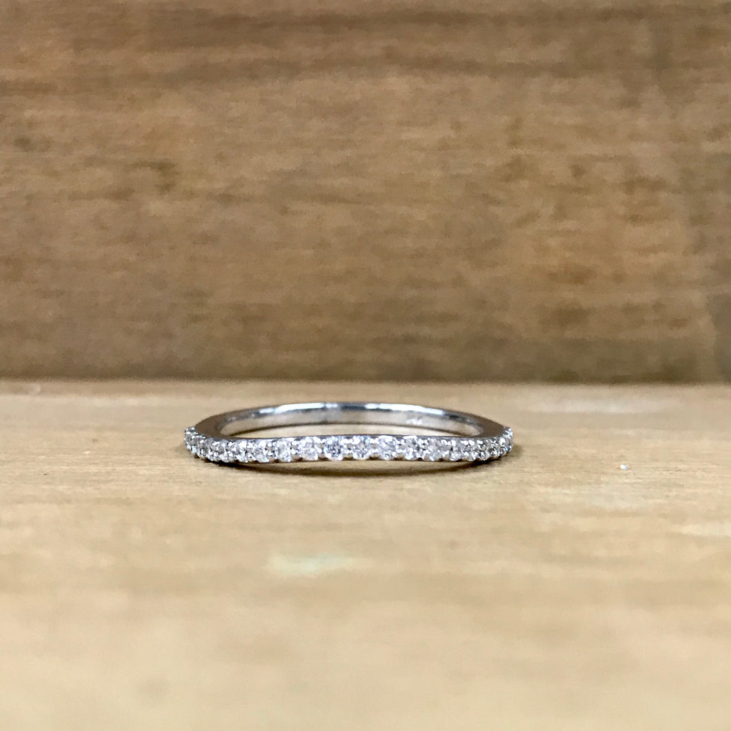 14K White Gold .25CTW Curved Diamond Band - The Jewelers Lebanon