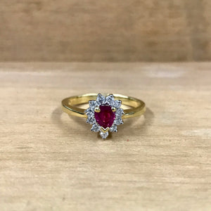 18K Yellow Gold Ruby .25 Carat Diamond Ring - The Jewelers Lebanon
