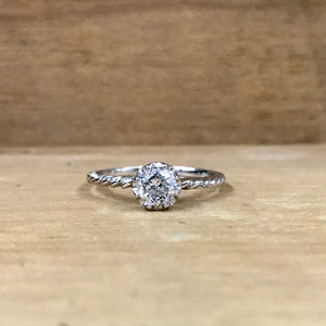 14K White Gold .51 Carat Diamond Engagement Ring - The Jewelers Lebanon