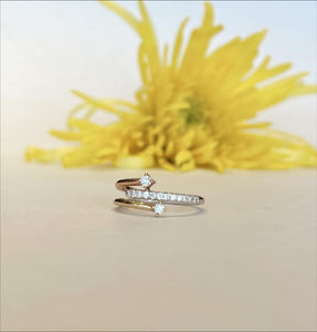 14K Two Tone .21 CTW Diamond Ring - The Jewelers Lebanon
