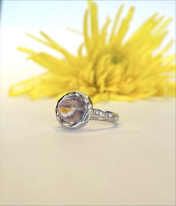 14K White Gold 2.5 Carat Amethyst & .11 CTW Diamond Ring