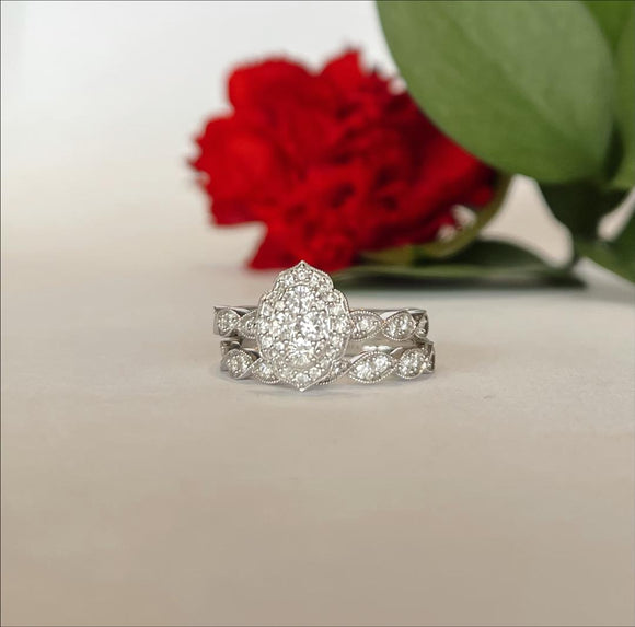 14K White Gold .76 CTW Diamond Engagement Ring