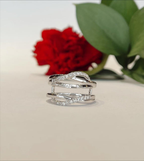 14K White Gold .25 CTW Ring Guard Engagement Ring - The Jewelers Lebanon