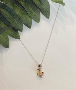 18K White Gold .51 CTW Yellow Diamond  Necklace By Yanni B - The Jewelers Lebanon