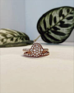 14K Rose Gold 0.74 CTW Diamond Ring