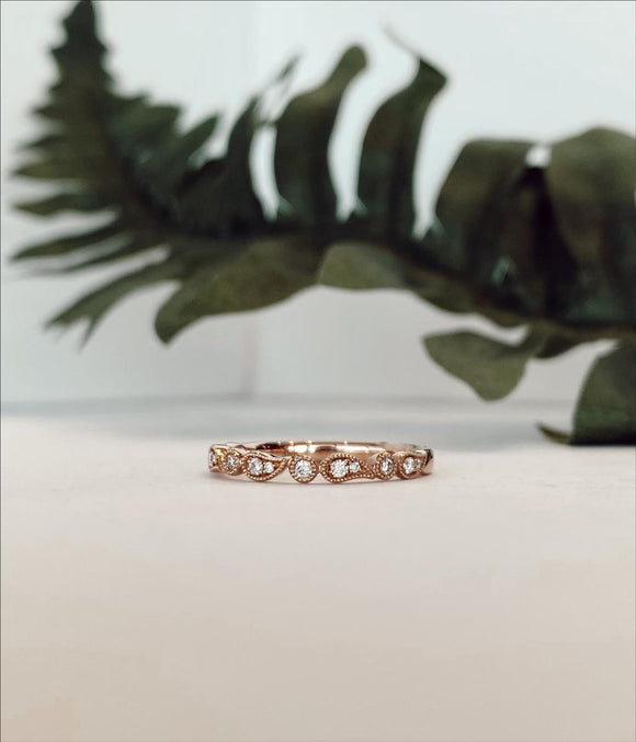 14K Rose Gold .13 CTW Diamond Band Ring