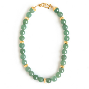 Aventurine and Gold Necklace