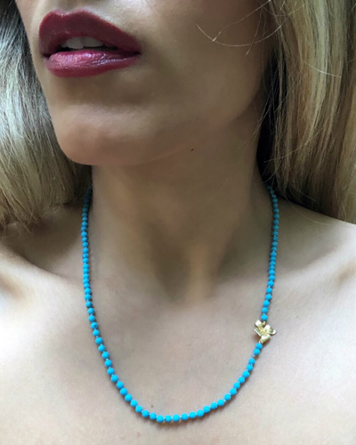 Rich Turquoise & Gold Necklace