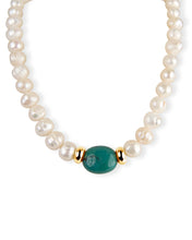 Load image into Gallery viewer, Turquoise & Pearl Necklace