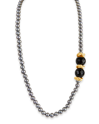 Pearl and Onyx Necklace