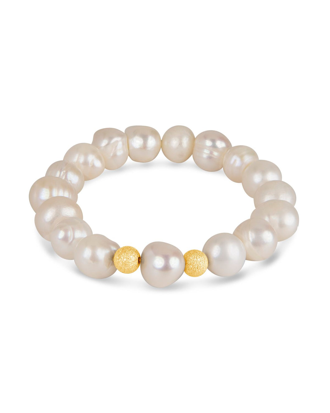 Pearl and Vermeil Gold Bracelet