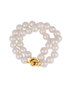 White Pearl Knotted Bracelet