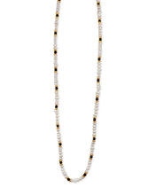 Load image into Gallery viewer, Onyx and Freshwater Pearl Necklace