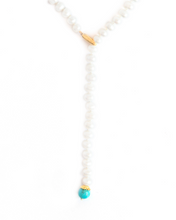 Load image into Gallery viewer, Pearl and Turquoise Lariat
