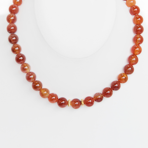 Amber and Gold Necklace