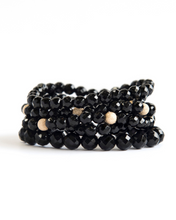 Load image into Gallery viewer, Onyx and Gold Bracelet