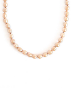 Gold Pearl Knotted Necklace