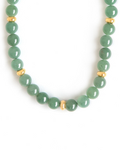 Load image into Gallery viewer, Aventurine and Gold Necklace