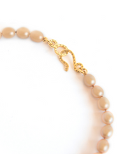 Load image into Gallery viewer, Gold Pearl Knotted Necklace