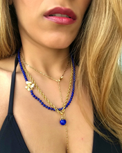 Load image into Gallery viewer, Rich Lapiz Lazuli & Gold Necklace