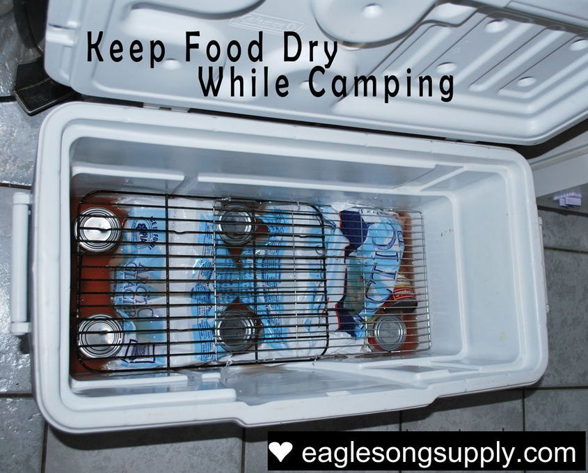 Keeping food dry while camping
