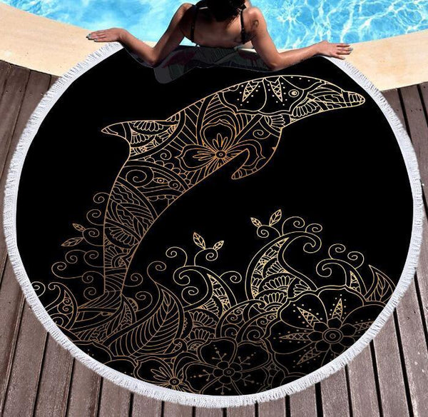 Dolphin Large Round Beach Towel - Outdoor Sports Store - Eaglesong Outdoor Retailer