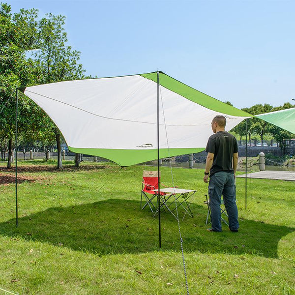 Hexagonal Sun Shelter With Poles - Outdoor Sports Store - Eaglesong Outdoor Retailer