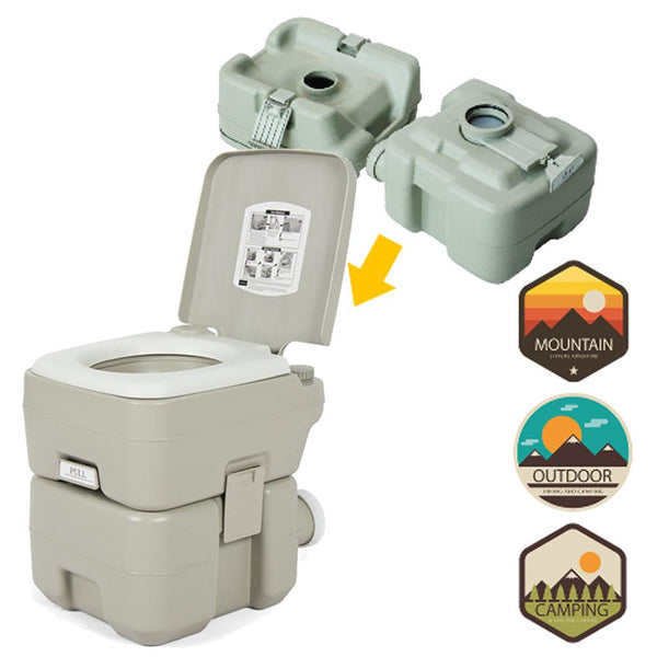 20L Portable Camping Toilet - Flushing - Outdoor Sports Store - Eaglesong Outdoor Retailer