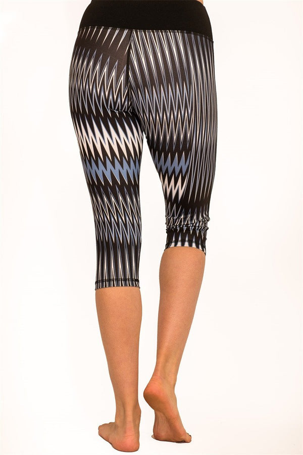 TheFreeYoga Wave Printed Capri - Outdoor Sports Store - Eaglesong Outdoor Retailer