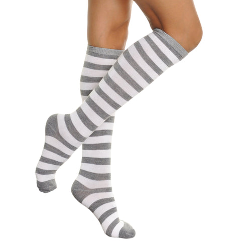 Angelina Knee-High Novelty Color Stripes Socks (6-Pairs) - Outdoor Sports Store - Eaglesong Outdoor Retailer