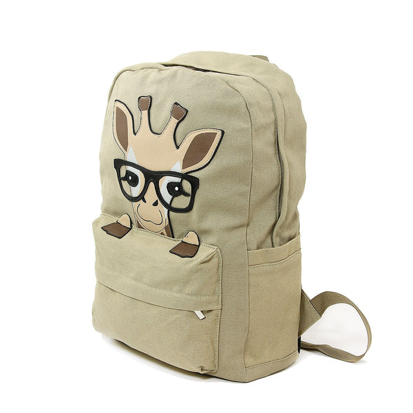 Nerdy Baby Giraffe Canvas Backpack - Outdoor Sports Store - Eaglesong Outdoor Retailer