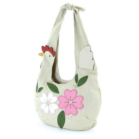 Floral Chicken Hobo in Canvas Material - Outdoor Sports Store - Eaglesong Outdoor Retailer