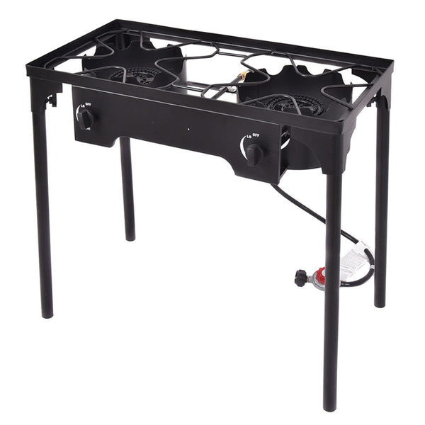 150000 BTU Double Burner Outdoor Stove BBQ Grill - Outdoor Sports Store - Eaglesong Outdoor Retailer
