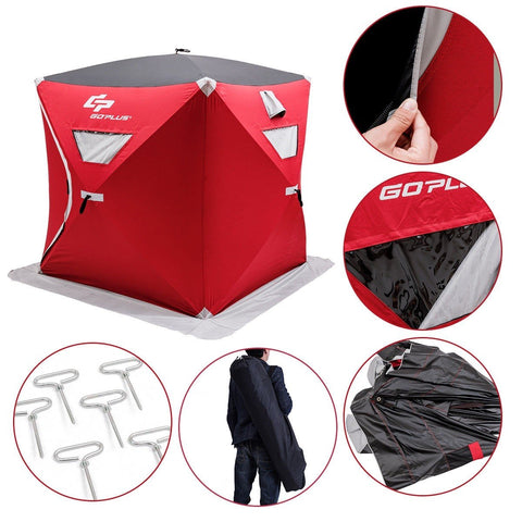 2-person Portable Pop-up Ice Shelter Fishing Tent with Bag - Outdoor Sports Store - Eaglesong Outdoor Retailer