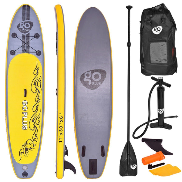 Goplus 11' Inflatable Stand up Paddle Board SUP with 3 Fins - Outdoor Sports Store - Eaglesong Outdoor Retailer