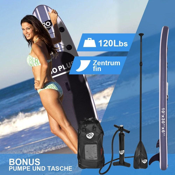 Goplus 10' Inflatable Stand Up Paddle Board SUP w/ 3 Fins - Outdoor Sports Store - Eaglesong Outdoor Retailer