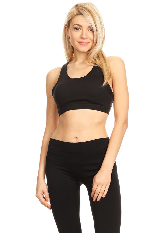 Women's Stylish Sports Bra - Black - Outdoor Sports Store - Eaglesong Outdoor Retailer