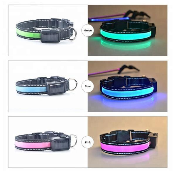 High Quality USB and Solar Charge Reflective Led Dog Collar - Outdoor Sports Store - Eaglesong Outdoor Retailer