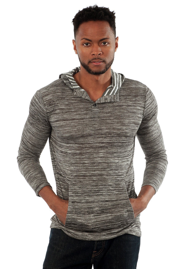 Lightweight Hooded Henley in Grey - Outdoor Sports Store - Eaglesong Outdoor Retailer