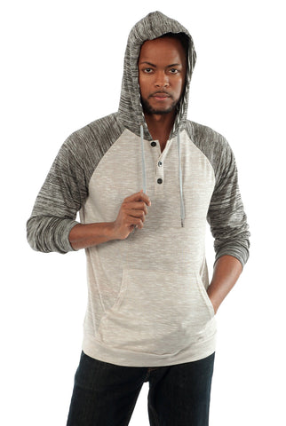 Lightweight Hooded Henley in Light Grey - Outdoor Sports Store - Eaglesong Outdoor Retailer