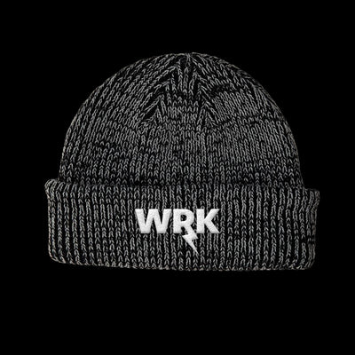 WRK EMBROIDERED MARBLE CUFF BEANIE