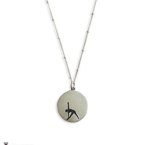 Triangle Pose Yoga Necklace