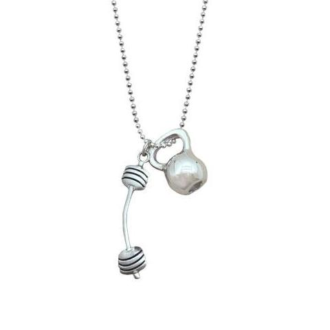 Kettlebell Barbell Crossfit Necklace