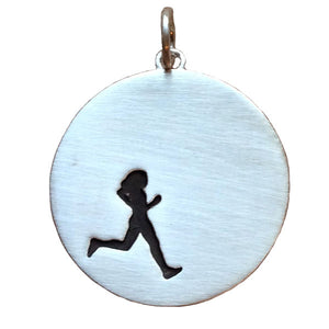 Sterling Silver Female Runner Necklace