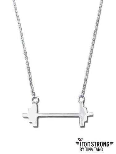 Modern Barbell Necklace