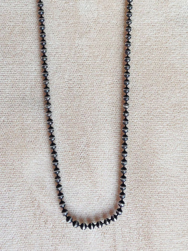 Sterling Silver Blackened Ball Chain