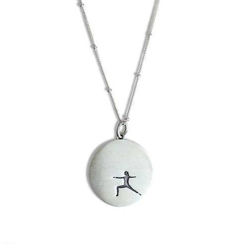 Warrior 2 Pose Yoga Necklace