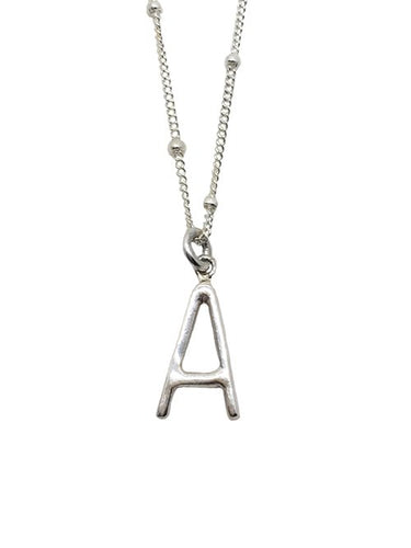 Modern Letter Necklace -A