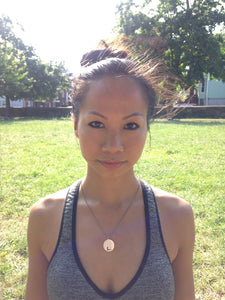 Model Shot of Yoga Pendant