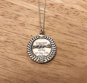 Powerlifting Meet Squat Bench Deads Medal Necklace